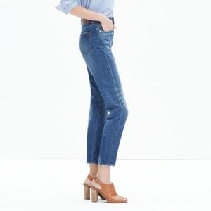 "Madewell 10"" High Rise Straight Leg Crop Jeans"